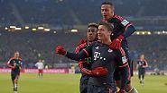 Und er FC Bayern? Kommt noch nicht so richtig in die Gänge, siegt aber beim HSV - dank Robert Lewandowski.