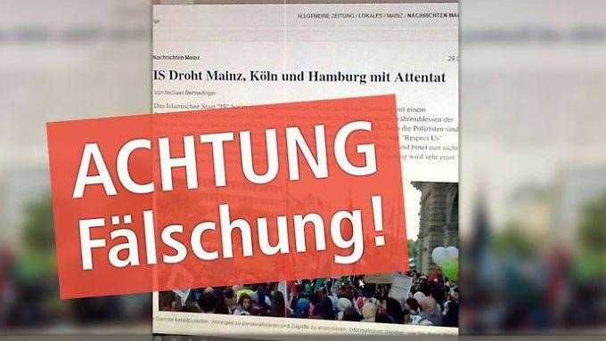 Übler Scherz oder perfider Angriff auf die Glaubwürdigkeit der Medien? Der Vorfall von Mainz wird mit Sicherheit ein Nachspiel haben.