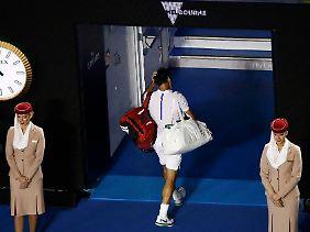 Federers warten auf seinen 18. Grand-Slam-Titel geht damit weiter.