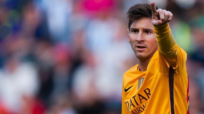 Zum ersten Mal in seiner Karriere wurde Lionel Messi zum Fußballer des Monats in der Primera Division gekürt.