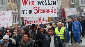 Auch in Villingen-Schwenningen demonstrierten Menschen nach der erfundenen Vergewaltigung von Lisa.