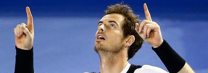 """""""Ich werde nach Hause fliegen, wenn es losgeht"""": Andy Murray."""