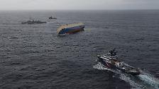 """Schiffsunglück in der Biskaya: Rettungsaktion für die """"Modern Express"""""""