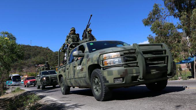 Die mexikanischen Behörden gehen mit schwerem Geschütz gegen die Drogenkartelle vor.