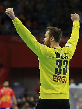 Mann des Spiels bisher: Keeper Andreas Wolff.