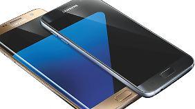 So sehen das Galaxy S7 Edge und das S7 also aus.