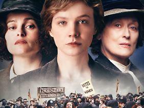 Helena Bonham Carter, Carey Mulligan und Meryl Streep (v.l.) leihen den Suffragetten ihr Gesicht.
