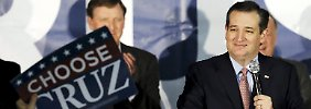"""Choose Cruz"": Ted Cruz genießt den Sieg in Iowa."
