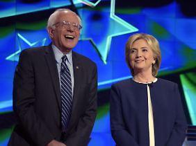 Ungleiche Kontrahenten: Bernie Sanders und Hillary Clinton.