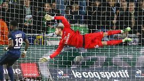 Siegerflieger: Kevin Trapp hielt das Pariser Tor gegen St. Etienne sauber, mal wieder.