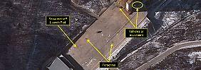 Blick aus dem All: Ein europäischer Überwachungssatellit schoss vor wenigen Tagen diese Aufnahme eines nordkoreanischen Raketenstartplatzes.