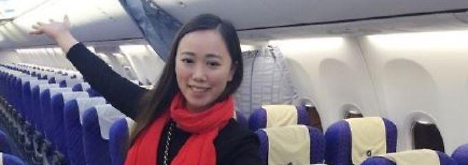 Zhang allein an Bord.
