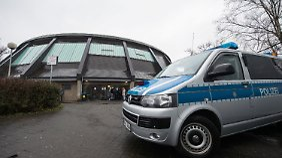 Polizei-Einsatz in der Flüchtlingsunterkunft im nordrhein-westfälischen Attendorn