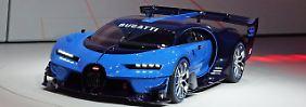 Der Über-Sportler Bugatti Chiron wird in der Schweiz zum ersten Mal präsentiert, hier die Studie der IAA 2015.
