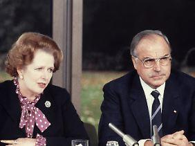 Helmut Kohl war von seiner britischen Amtskollegin wenig begeistert (Archivbild vom 29.10.1982).