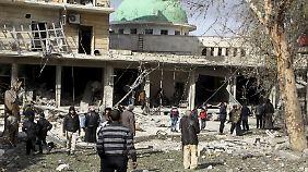 Auch heute gab es in Aleppo wieder Luftangriffe.