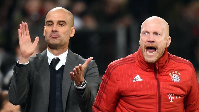 Alles im Griff? Bayern-Coach Josep Guardiola und Sportdirektor Matthias Sammer.