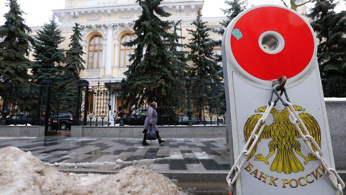 Russlands Zentralbank musste allein 2015 fast 70 Banken schließen.