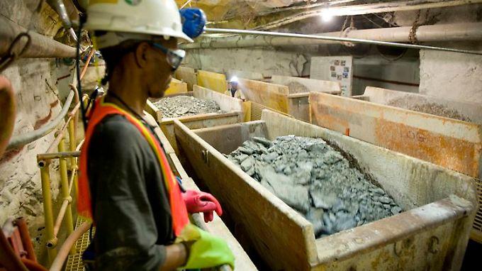 Goldmine in der Nähe von Johannesburg, Südafrika.