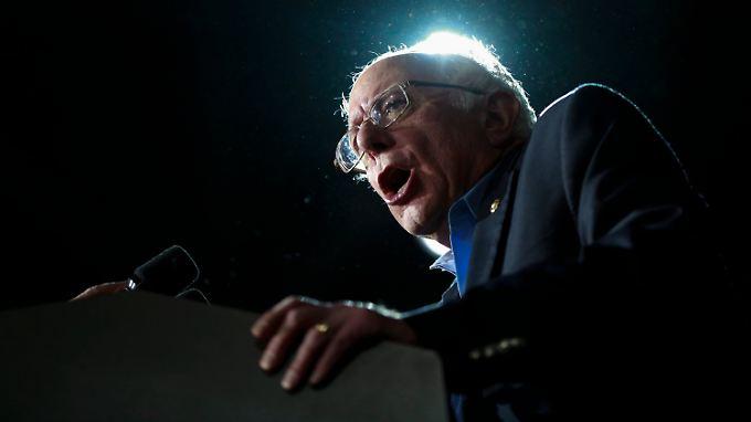 """Der Demokrat Bernie Sanders plant eine """"politische Revolution""""."""