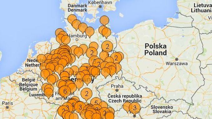 Die Hoaxmap visualisiert Gerüchte und widerlegt sie mit Informationen.