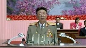 Ri bei einer Rede im August 2014 in Pjöngjang.