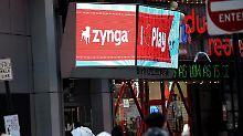 Zynga auf einem Bildschirm der Technologie-Börse NASDAQ in New York, USA. Foto:Justin Lane