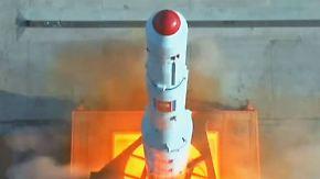 Euphorische Ankündigung im Staats-TV: Nordkorea veröffentlicht Bilder von Raketenstart