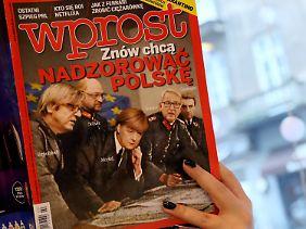 Auf den Titelseiten polnischer Magazine tauchten jüngst wieder einmal Fotomontagen von Merkel in Nazi-Uniform auf.