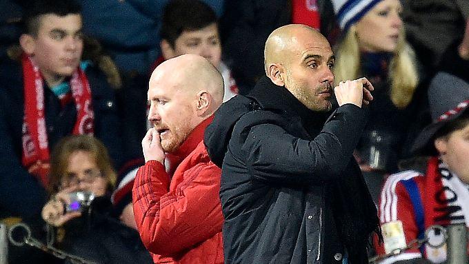 """Die Gesichter der bayrischen """"Krise"""": Sportvorstand Matthias Sammer (l.) und Trainer Josep Guardiola."""