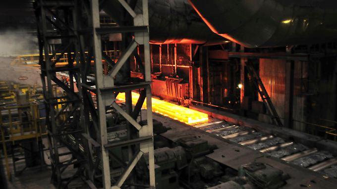 Stahlproduktion südlich von Moskau.
