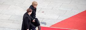 Kühle Töne nach Treffen: Merkel und Szydlo mühen sich miteinander