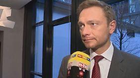 """Lindner über Vertrauensfrage: """"Wollen doch mal sehen, ob Koalition hinter der Kanzlerin steht"""""""