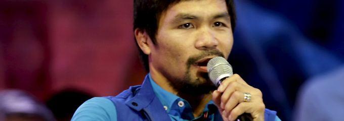 Hier hetzt der Weltmeister: Manny Pacquiao.