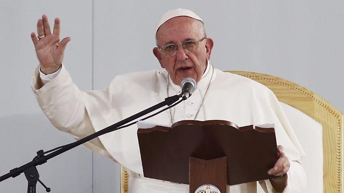 Redete den mexikanischen Jugendlichen ins Gewissen: Papst Franziskus