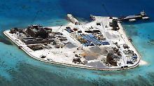 Mit Raketen auf Atollen, Riffen und Inseln will China im Südchinesischen Meer seine Position festigen.