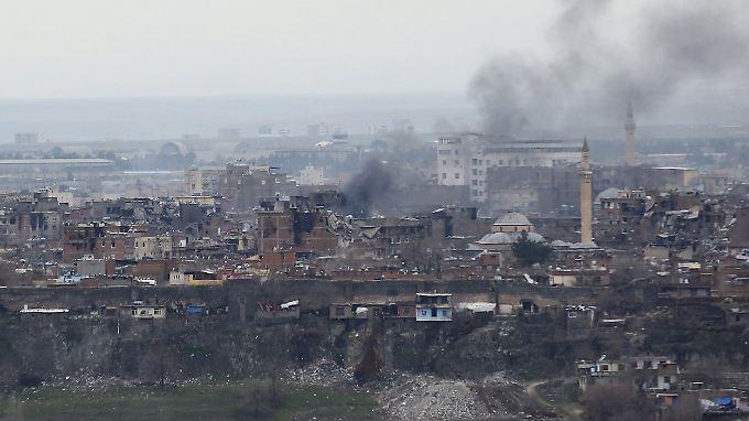 Im Südosten der Türkei herrschen kriegsähnliche Zustände: Hier ein Blick auf die Provinzhauptstadt Diyarbakir.