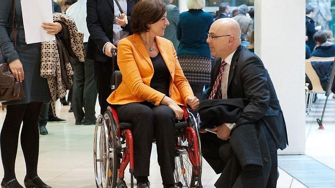Malu Dreyer im Gespräch mit Torsten Albig, dem Ministerpräsidenten des Landes Schleswig-Holstein.