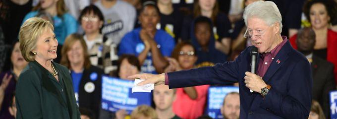 Ex-Präsident Bill Clinton unterstützt seine Frau Hillary im Wahlkampf.