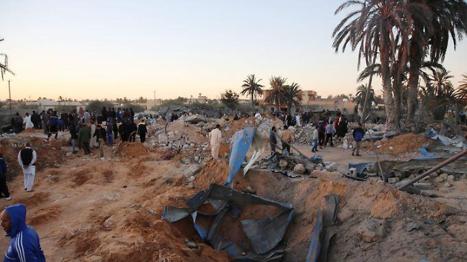 Durch den US-Luftangriff in Sabratha wurden mindestens 41 Menschen getötet - darunter auch die beiden Diplomaten.