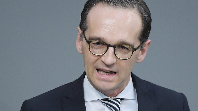 """Justizminister Heiko Maas will die """"dumpfen Parolen"""" der AfD entlarvt sehen."""