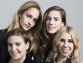"Die ""Girls"" von oben links: Jemima Kirke, Allison Williams, Lena Dunham und Zosia Mamet"