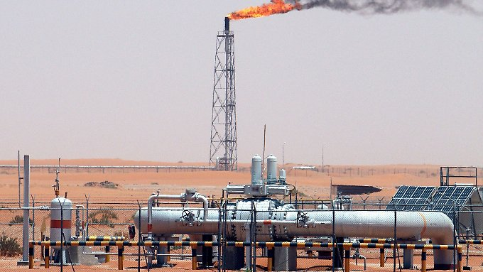 Im saudischen Khurais-Ölfeld.