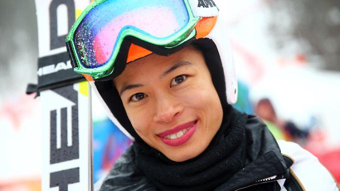 Vanessa Mae landet im Riesenslalom von Sotchi auf dem 67. und letzten Platz.