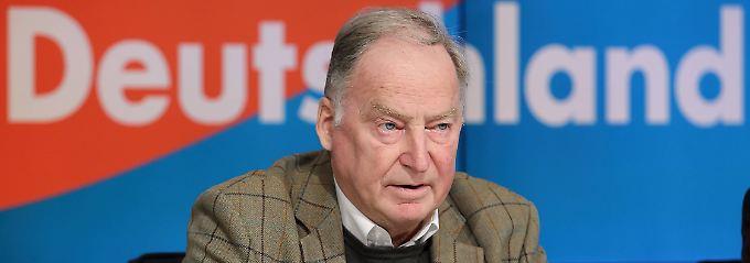 Alexander Gauland war leitete von 1987 bis 1991 die hessische Staatskanzlei unter dem CDU-Ministerpräsidenten Walter Wallmann. 2013 gehörte er zu den Gründungsmitgliedern der AfD.