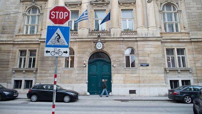 Die griechische Botschaft in Wien: Wann die Botschafterin zurückkehrt, ist unklar.