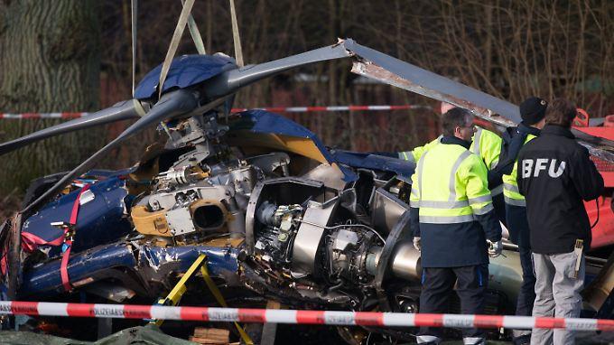 Der Flugschreiber des Hubschraubers wurde bereits geborgen.