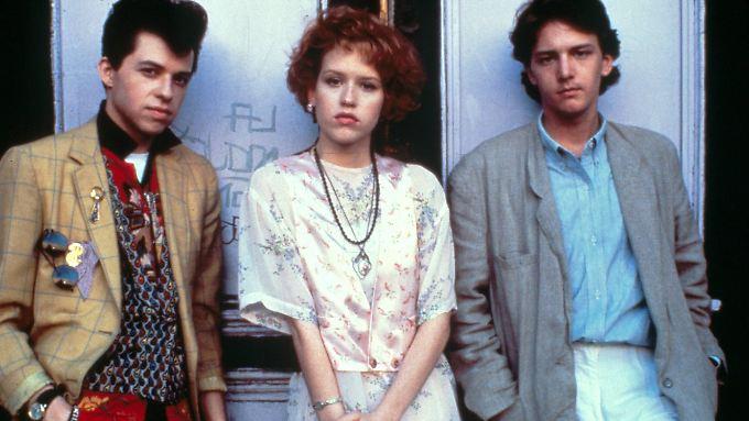 Trio Infernale: Jon Cryer als Duckie (l.), Molly Ringwald als Andie Walsh und Andrew McCarthy als Blane McDonnagh.