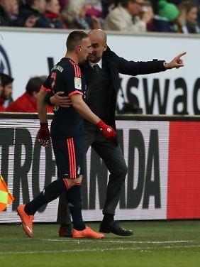 Franck Ribéry steht bei Bayern-Coach Pep Guardiola hoch im Kurs.