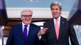 Steinmeier und der US-Außenminister John Kerry